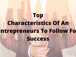 characteristic of an entrepreneur