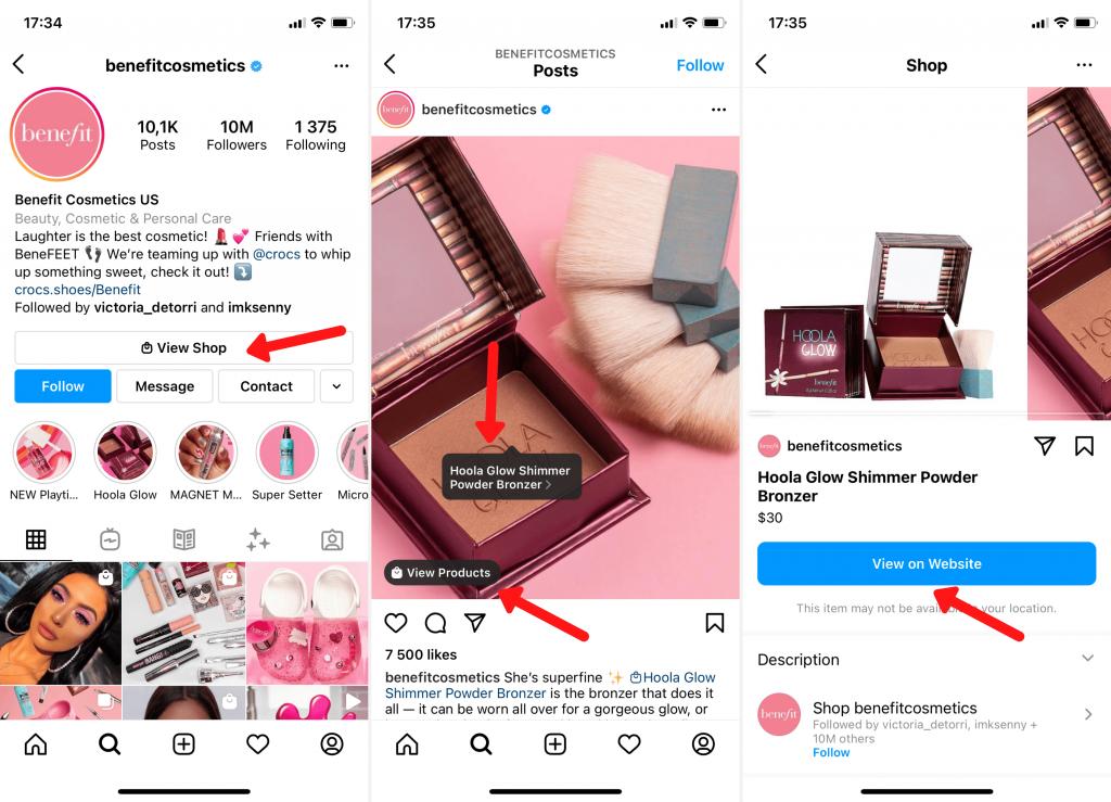 Official Benefit Cosmetics Instagram account Strategies